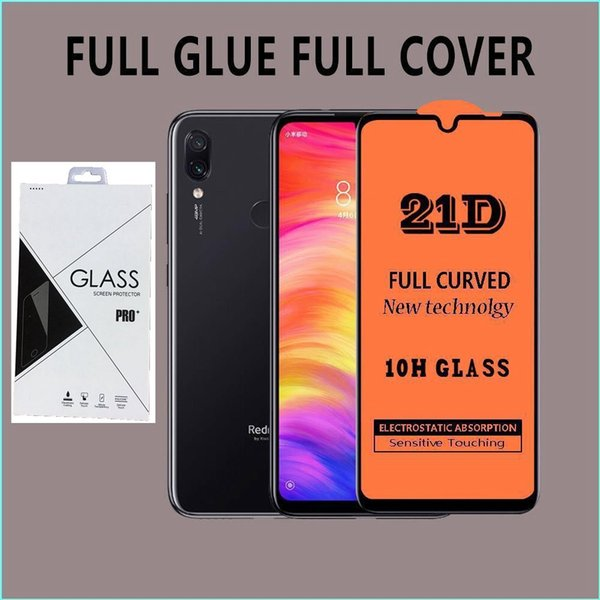 Full Cover 6D 9D 21D Tempered Glass Screen Protector AB Glue Edge to Edge For Huawei Nova 5 Mate 30 lite P SMART Z 100pcs/lot in retail