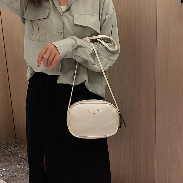 Fashion Women Bag PU Leather Small Cross Body Bag Simple Solid Color Handbag Women's Bags Shoulder Bags Cute Messenger #20