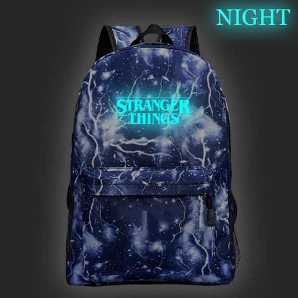 Bella straniera cose zaino luminoso Ragazzi ragazze sacchetto di scuola Moda Nuovo modello Teens Zaino Uomini Donne borse da viaggio