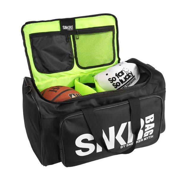 Brand New SNKR Sports Talent Gym Bag Black White Large Capacity Duffle Bag Mens Womens Designer Backpack