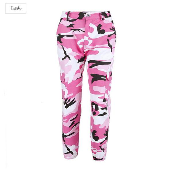 100 Pantaloni% Cotone Donne vita alta Demin camuffamento Pantalon Jean pantaloni di modo Mujer matita militare Camo matita Pants