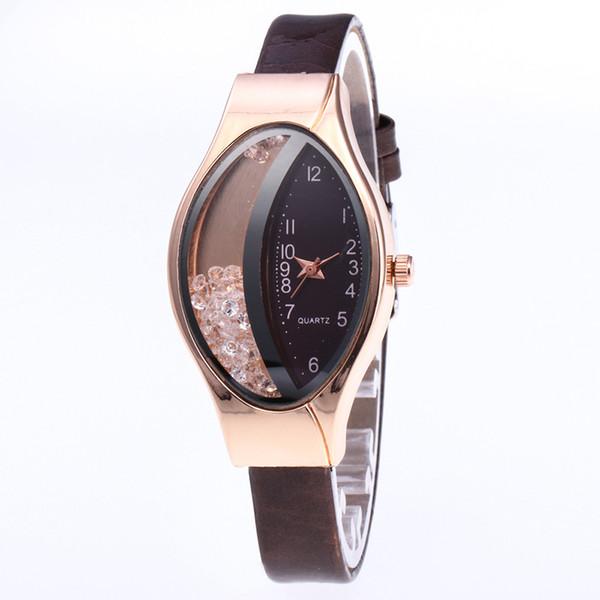 Women's Belt-studded Half-drilled Ball Sandpaper Quartz Watch Ladies Fashion Leather Strap Quartz Wristwatch