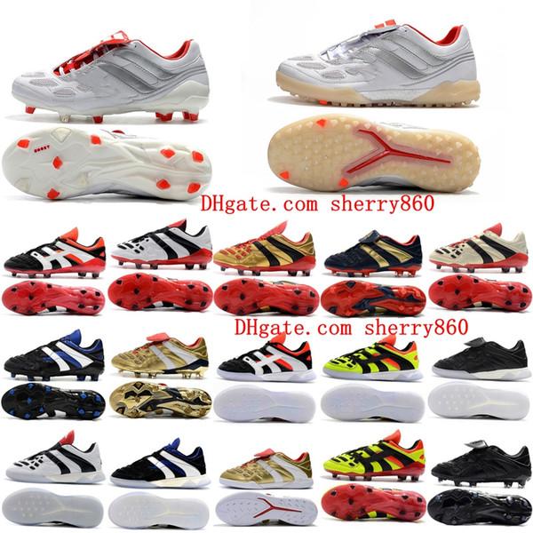 top popular 2019 mens soccer shoes Predator Accelerator Electricity FG TR soccer cleats Predator Precision FG X Beckham indoor football boots cheap 2020
