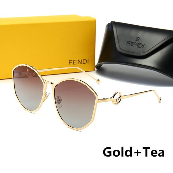 Nuevas gafas de sol de moda para mujer Gafas de sol de lujo Gafas de gafas polarizadas Estilo 0335 UV400 5 colores de alta calidad con caja