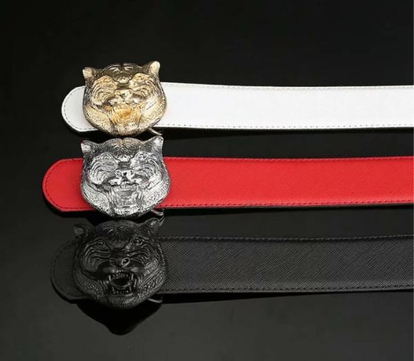 2018 brand belt high quality brand designer belts luxury fashion belts for men copper type tiger head belt men and women waist cowhide belt