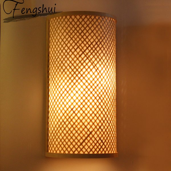 chinese classical bamboo garden wall lamps bathroom light living room bedroom aisle led deco mirror light wall sconce lamp