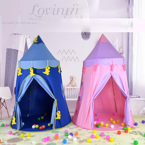 Kids Play Tents Children Outdoor Folding Portable Toy Tents Princess Prince Hexagonal Castle Without Light OOA6517