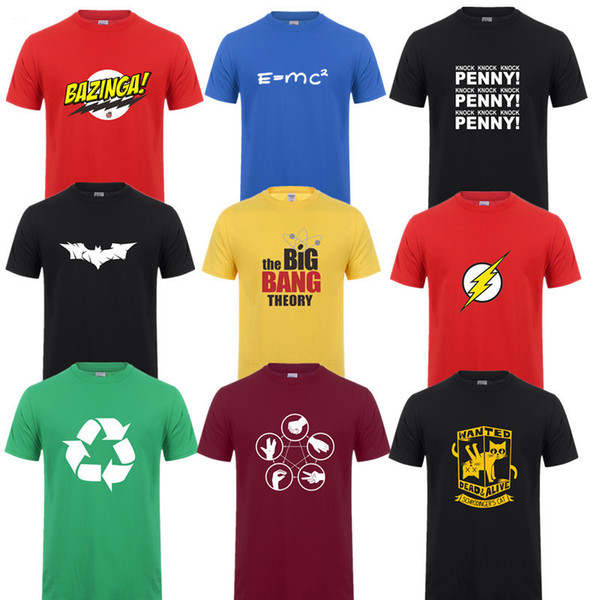 Sheldon Penny Shirts Printed Short Sleeve The Big Bang Theory T-shirt For Cooper Logo T Shirt Men Tops Q190518