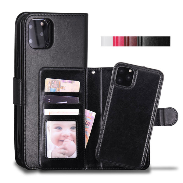 top popular Cyberstore Phone Case Leather Wallet Case Magnetic 2in1 Detachable Cover Cases For iPhone 11 Pro xs Max 7 8 Samsung Note10 S10 Plus 2020