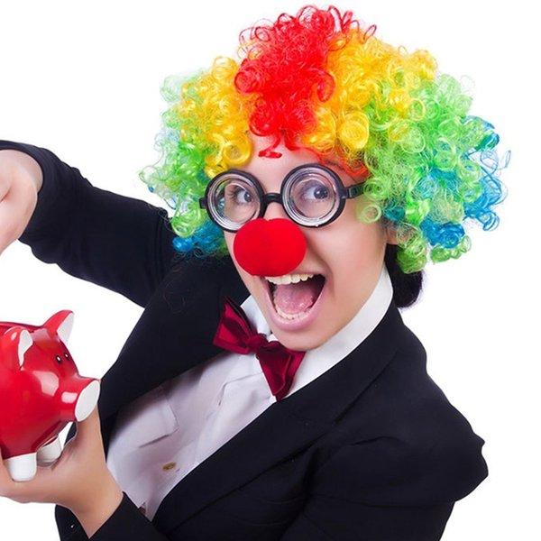 Magic Red Sponge Balls Clip Foam Clown Nose Costume Party Fancy Dress Cosplay Comic Halloween Christmas Party supplies children gift