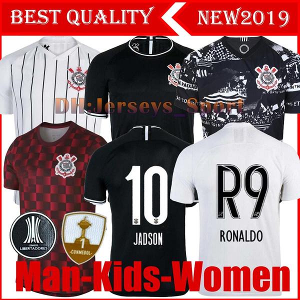 2019 qualité Corinthian Soccer Jersey Thai pauliste Brasil 19 20 CLAYTON Jadson ROMERO PABLO M.Gabriel Maillots de football shirt femmes Brésil