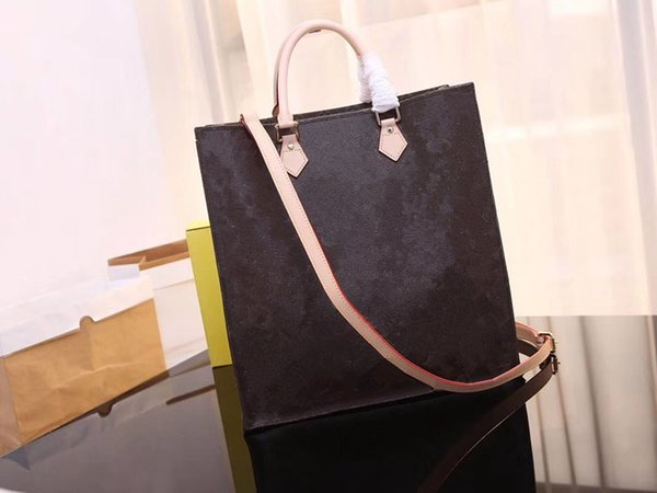 Sac Plat Damier canvas handbag M51140 with original leather high quality classic urban business fashion bag fashion first
