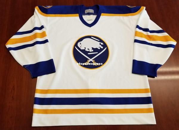 Оптовая Buffalo Sabres Vintage CCM центр Ice Authentic Pro дешевые хоккей Джерси Ultrafil мужские ретро трикотажные изделия