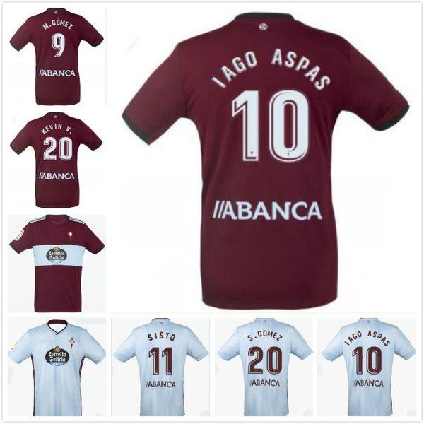 19 20 Celta Vigo Camisas de Futebol BRAIS MENDEZ 2019 2020 Celta de Vigo Camiseta de futebol IAGO ASPAS Camisa de Futebol BOUFAL M. GOMEZ Camisa