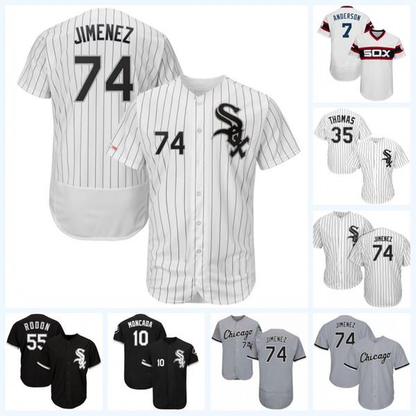 74 Eloy Jimenez 79 Jose Abreu 10 Yoan Moncada 7 Tim Anderson 24 Matt Davidson 5 Yolmer Sanchez Todd Frazier White Sox Jersey