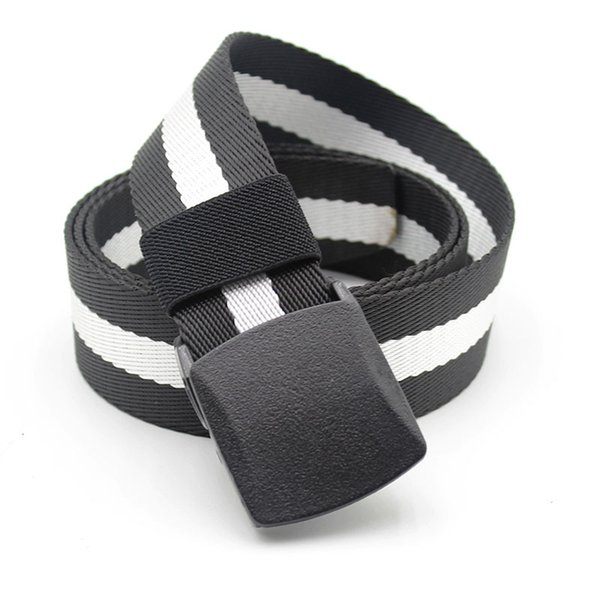 3 PCS Thick Nylon Waistband Casual Outdoor Belt Male Hypoallergenic Over Security Belt Without Iron Ccolor Random