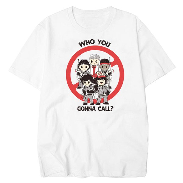Stranger Things T Shirt Uomo di buona qualità Who You Gonna Call T-Shirt Uomo Maglietta in cotone Summer Short Sleeve Hipster Tee Shirt Homme