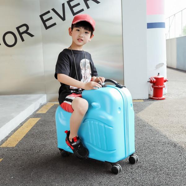 Nuovi bambini Rotolamento bagagli Spinner Ruote da 20 pollici Valigia Bambini Cabina Carrello Borsa da viaggio per studenti Cute Baby Carry On Trunk