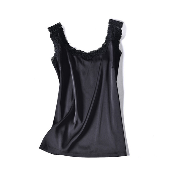 Glow-proof ~ summer vest lady lace outer wear small strap 2019 solid color large size inside with sleeveless top moisture