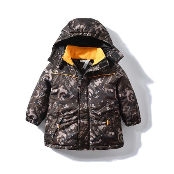 Kids Parka Children Boys Snowsuit Winter Jacket Waterproof Coat 2019 Warm Fleece Clothes Russian Outerwear for 2 3 4 5 Years