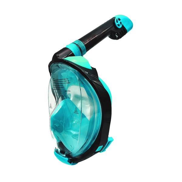 Seaview 180°Mask Full Face Snorkel Mask With Detachable Camera Mount Dry Top Set Anti-Fog Anti-Leak Dive Mask