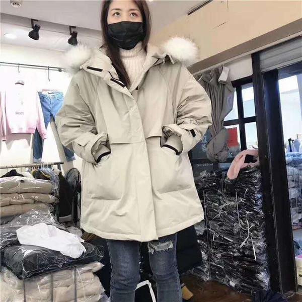 Manteau d'hiver en duvet de canard blanc d'hiver pour femmes 2019 avec capuche