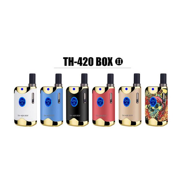 Mini Vape TH-420 II MOD box Atomizer Shisha 650mah Mod Box Pen vapor Starter Kit Hookah Vaporizer Tobacco e-cigarette