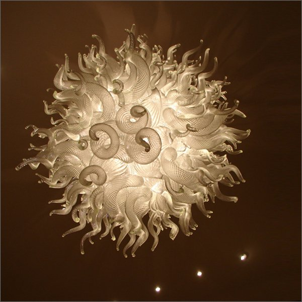 Chinese LED Chandelier Lamp New House Decoration Blown Glass Air Shipping AC Led Bulbs Art Energy Saving Light