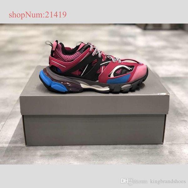Высокое качество новый розовый папа обувь соответствия старинные кроссовки пара повседневная обувь мужчины женщины дышащие кроссовки