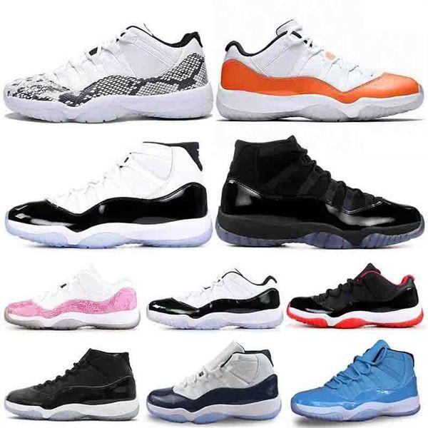 2019 XI 11s Bred 11 Concord Chaussures de basketball pour hommes Platinum Tint Gym Rouge Cap et robe PRM mode luxe hommes femmes sandales designer
