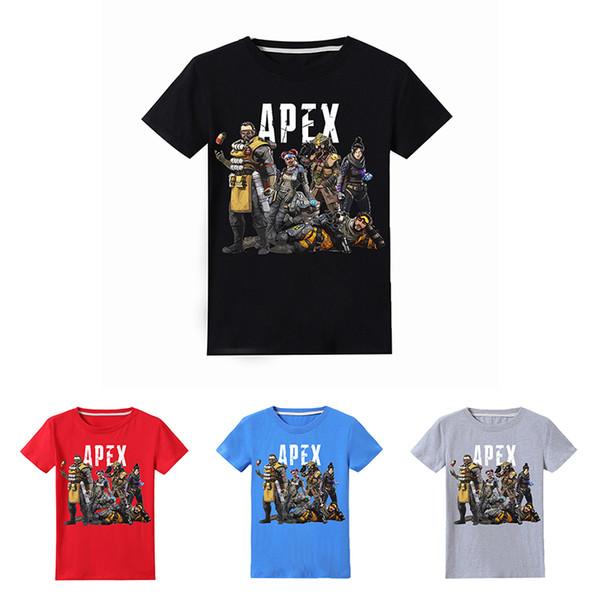 Apex Legends Kids T-shirts 4 colors 6-14y Children Boys 100% Cotton T-shirts kids designer clothes boys shirt kids clothes E9564987 50PCS