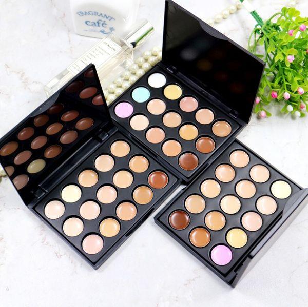 HOT makeup 15 Color Concealer Facial Foundation Nautral Care Cream Concealer Makeup Palette Set free shipping