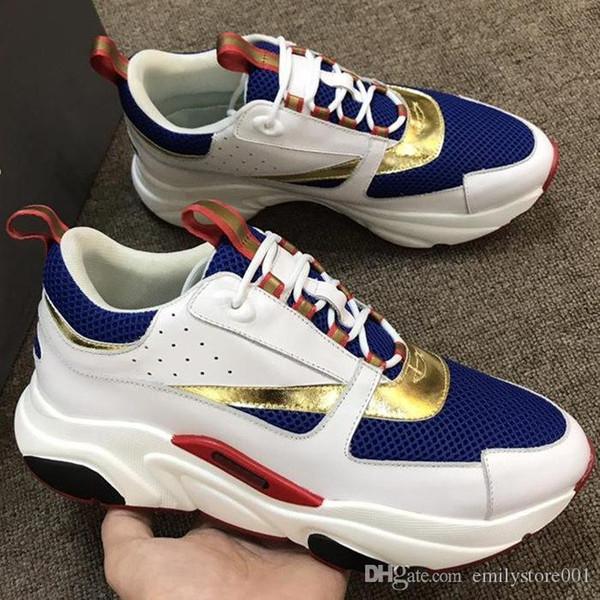 Herren-Designer-Schuhe B22 Sneaker aus Kalbsleder Turnschuhe Frauen-flache Segeltuch-Turnschuh Patchwork Luxus beiläufige Turnschuh-Baumwolle Schnürsenkel B23 B24Shoes HZD33