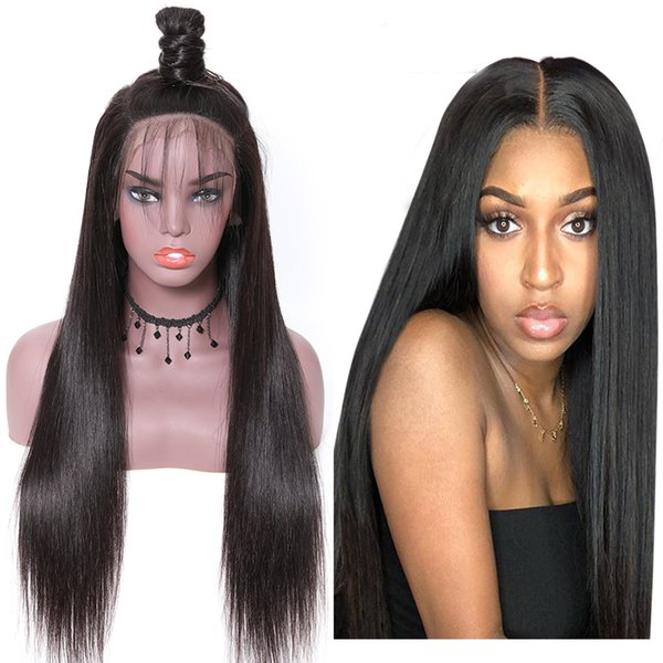 peruvian indian straight lace front wig remy 360 lace frontal wig 150% density 13x4/13x6 malaysian straight lace front human hair wigs
