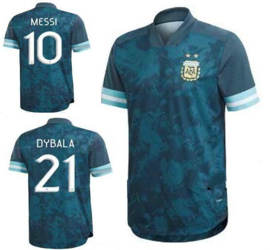 2019 Copa America Arjantin Ana Mavi Beyaz Futbol Jersey 20 21 10. MESSI Futbol Gömlek 9. Aguero DYBALA kısa kollu futbol Gömlek