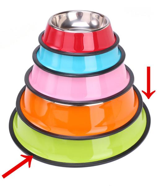 Нержавеющая сталь Dog Bowl Pet Bowl большой емкости для кормления водой и кормом для кошек, собак и других