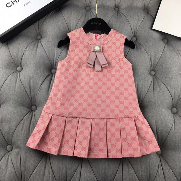 Girls dresses Children's designer clothing 2019 new casual G-print vest dress Cotton fabric comfortable and durable girls evening dress