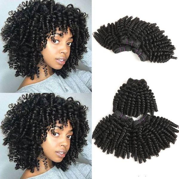 Feixes de cabelo humano Brasileiro Funmi Remy encaracolado Extensões de cabelo humano Tecer Cabelo encaracolado 3 pacotes