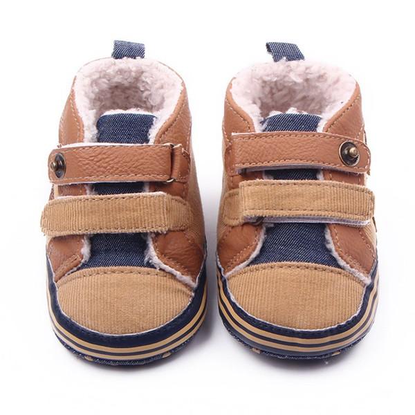 2017 Kış Yenidoğan Bebek Boys Ayakkabı Sıcak Birinci Walker Bebekler Erkek Antisilip Botlar Çocuk ucuz ayakkabı