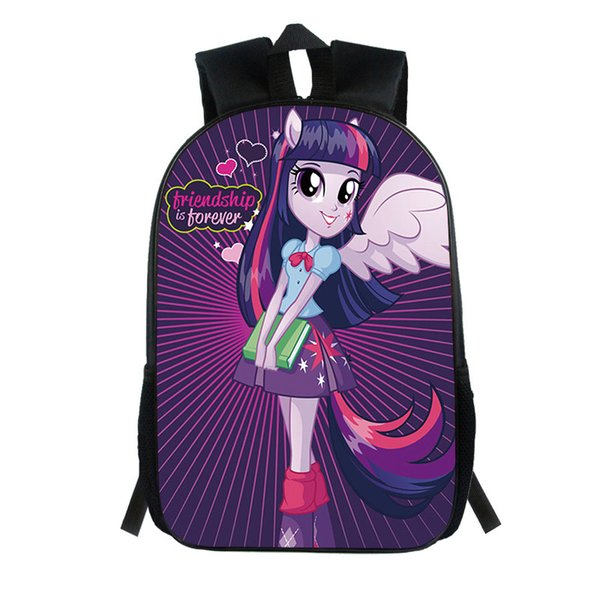 New Fashion Children's Cartoon Bag Princess Girl Print Cool Personality Pupils School Bag Kindergarten Boy Girl Backpack