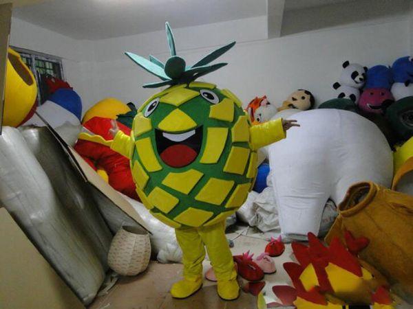 Personnalisé professionnel ananas costume de mascotte fruit de la caricature caractère vêtements noël halloween partie fantaisie robe