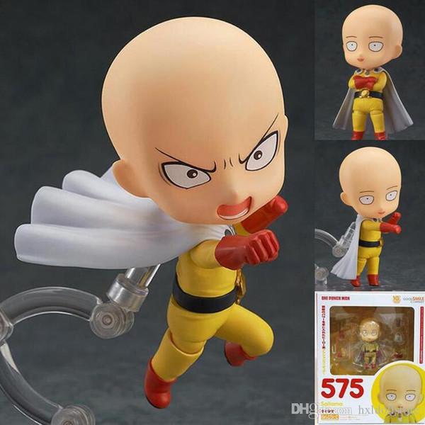 ht hxldoor figura envío libre del Anime de Nendoroid 575 Saitama Un Hombre del sacador del PVC de la acción Juguetes Figuras del 10cm para el regalo