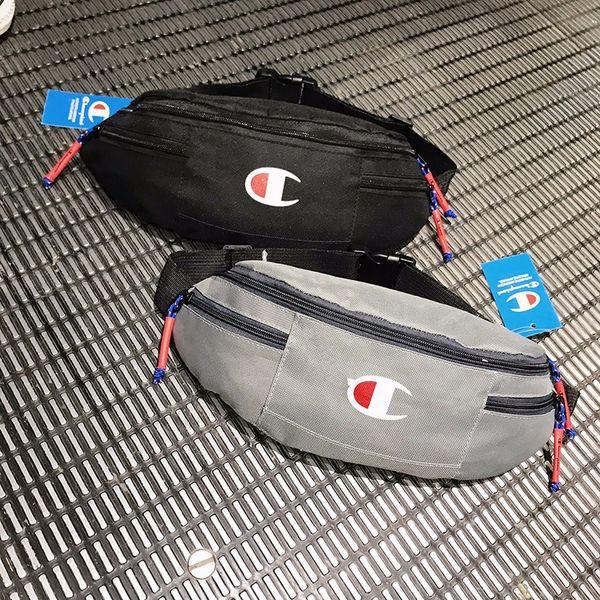 champion print bags shoulder bag purse wallet pocket fashion outdoor messenger bag retractable strap zipper decoration boutique 4color C3277
