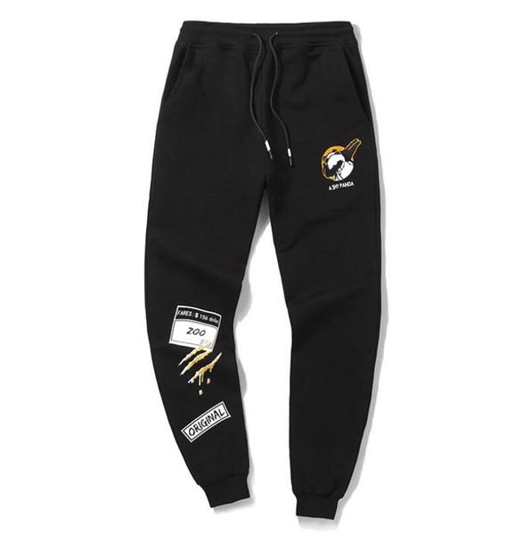 Fashion Men Funny Pants Hip Hop Harem Joggers Trousers Mens Personality Panda Print Sweatpants Free Shipping