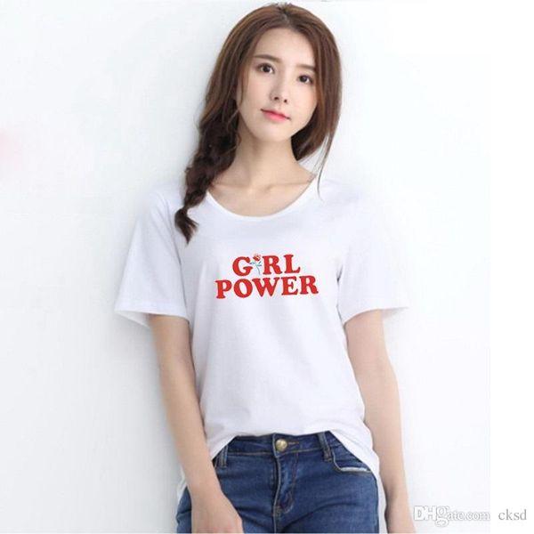 Wonder Woman Kadınlar Için Güç Moda T-Shirt Komik Mektubu Baskı Kısa Kollu T Gömlek Kawaii harajuku Rahat tshirt NVTX51 Tops