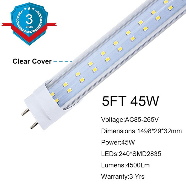 5FT 45W Clear Cover