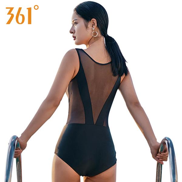 361 Transparent Swimsuit 2018 Sexy Mesh Bikini Female Bathers Bathing Suit Women Black One Piece Swimsuit Women Sheer