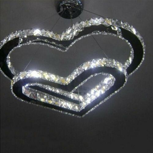 Lámpara de cristal moderna LED Lámpara de techo colgante Iluminación Corazón decoración de la boda lámpara