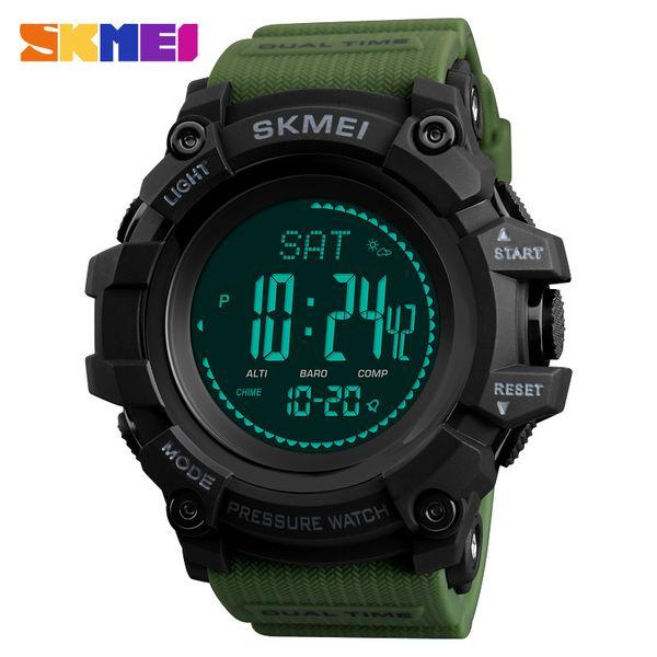 Skmei Outdoor Sports Watches Men Compass Temperature Altimeter Digital Wristwatches Waterproof Clock Male Relogio Masculino 1358 MX190717