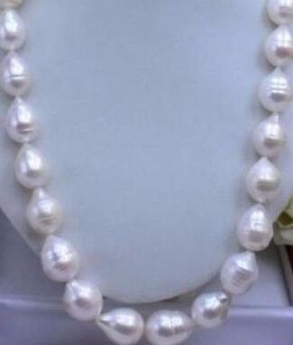 11-12 MM WHITE AKOYA BAROQUE PEARL NECKLACE 17 INCH